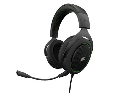 Corsair ヘッドセット Gaming HS50 STEREO CA-9011171-AP [Green] [ヘッドホンタイプ:オーバーヘッド プラグ形状:ミニプラグ 片耳用/両耳用:両耳用] 【楽天】 【人気】 【売れ筋】【価格】