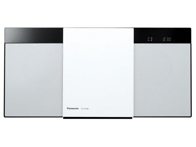 パナソニック コンポ SC-HC300-W [ホワイト] [対応メディア:CD/CD-R/RW 最大出力:20W]