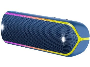 【キャッシュレス 5% 還元】 【ポイント5倍】【代引不可】SONY Bluetoothスピーカー SRS-XB32 (L) [ブルー] [Bluetooth:○ NFC:○ 駆動時間:電池持続時間(Bluetooth接続時):約24時間(Standardモード)/約14時間(EXTRABASSモード)] 【楽天】 【人気】 【売れ筋】【価格】