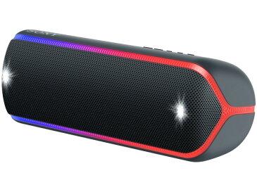 【キャッシュレス 5% 還元】 【ポイント5倍】SONY Bluetoothスピーカー SRS-XB32 (B) [ブラック] [Bluetooth:○ NFC:○ 駆動時間:電池持続時間(Bluetooth接続時):約24時間(Standardモード)/約14時間(EXTRABASSモード)] 【楽天】 【人気】 【売れ筋】【価格】