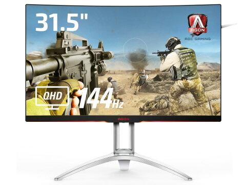 【ポイント5倍】【代引不可】AOC 液晶モニタ・液晶ディスプレイ AGON AG322QC4/11 [31.5インチ ブラック&シルバー] [モニタサイズ:31.5インチ モニタタイプ:ワイド 解像度(規格):WQHD(2560x1440) 入力端子:D-Subx1/HDMI1.4x1/HDMI2.0x1/DisplayPortx2]
