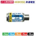 アッテネーター (減衰器) 非電流通過型 3.2GHz対応【4K8K対応】 (e4803) (メール便送料無料) ycm3