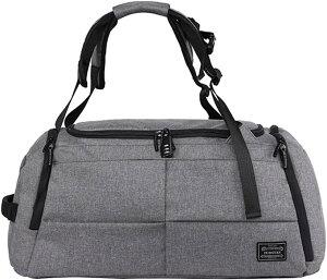 ジムバッグ メンズ シューズ収納 スポーツバッグ ボストンバッグ 3way 大容量 ロック付 2カラー(グレー)