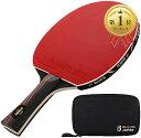 BEATON JAPAN 卓球ラケット シェークハンド 本格派 保護フィルム ケース付き ロングハンド