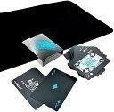 ブラック トランプ 黒い マジック カード 手品 ポーカー 大富豪 クロースアップ マット セット(クロースアップ マット セット)