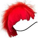 羽根 ヘッドドレス ふわふわカチューシャ 髪飾り アクセサリー ハロウィン パーティ クラブイベント 火の鳥 レッド 赤