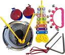 打楽器セット 子供用 おもちゃ キッズ 知育玩具 音楽 学習 演奏 5点セット(打楽器 5点セット)
