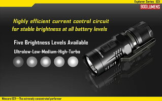 NITECOREEC11CREEXM-L2U2白色LED+赤色LED搭載/明るさMAX:900ルーメン/CR123A*1本or18350*1本_2