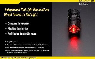NITECOREEC11CREEXM-L2U2白色LED+赤色LED搭載/明るさMAX:900ルーメン/CR123A*1本or18350*1本_3