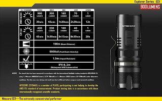 NITECOREEC11CREEXM-L2U2白色LED+赤色LED搭載/明るさMAX:900ルーメン/CR123A*1本or18350*1本_4