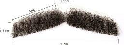 付け髭 ひげ 口髭 人毛 ウィッグ 髪製髭 手作り本物 コスプレ用ダンス用髭 1枚