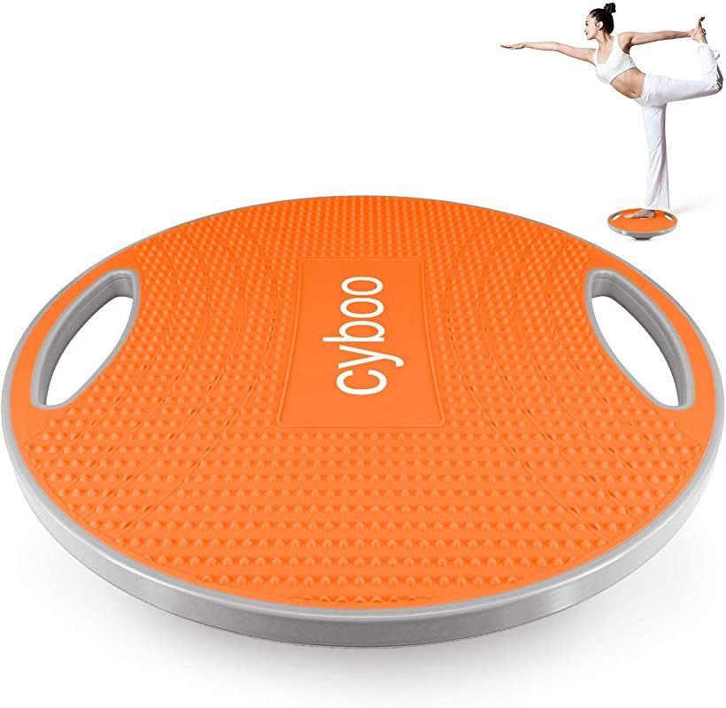 バランスボード 体幹 トレーニング器具 バランスディスク滑り止め ダイエット器具 ストレッチボード バランストレーニング 直径42cm 耐荷重300キロ MDM(オレンジ)画像