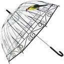 美々杏ビニール傘 おしゃれ ジャンプ傘 ドーム型 鳥かご 雨が見える 聞こえる 頑丈 8本骨(鶏)