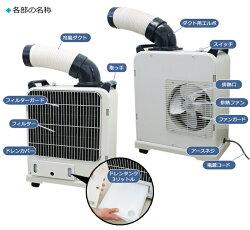 即納【送料無料】ナカトミミニスポットクーラーキャスター付単相100VSAC-800/SAC-1800【冷風機/扇風機/冷風/タワー/換気/DIY/NAKATOMI/クーラー/冷風扇/扇風機/除湿/除湿機/冷媒/スポットクーラー/小型/家庭用/スポットエアコン/】(10035694)