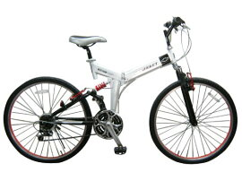 在庫処分【送料無料】CHEVROLET 折りたたみ自転車 26インチ ホワイト CHEVROLET FD-MTB26WH NO.73133【シボレー/軽量/持ち運び/ブランド自転車/チャリ/チャリンコ/じでんしゃ/折りたたみ/折り畳み/おりたたみ】(fd-mtb26wh)