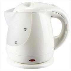 あっという間にお湯が沸く!忙しい朝にも大変便利です。【送料無料】コードレス電気ケトル 1.2L ホワイト