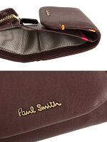 ポールスミス財布三つ折り財布バーガンデPaulSmithpwu723-80レディース婦人