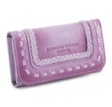 展示品箱なし キャサリンハムネット キーケース 紫(パープル) KATHARINE HAMNETT LONDON khp080-34 レディース 婦人
