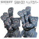 【数量限定】シェリフ アメカジシリーズ SAM-001デニム ヘッドカバーDR用、FW用、UT用、IR用、PT用ピン型SHERIFFあす楽【送料無料】【ゴルフ】