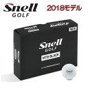 【2018新モデル】ゴルフボールSnell Golf MTB BLACK スネル 黒ゴルフ エムティービー ブラック 1ダース(12球入り)日本正規品 あす楽【ゴルフ】