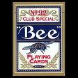 【全品ポイント増量中!】トランプカード ビーカード ポーカーサイズ (青/ブルー) 【Bee 正規代理店仕入品 ラスベガス・カジノで最も使用されているカード USプレイングカード社製】 【RCP】