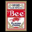 【全品ポイント増量中!】トランプカード ビーカード ポーカーサイズ (赤/レッド) 【Bee 正規代理店仕入品 ラスベガス・カジノで最も使用されているカード USプレイングカード社製】 【RCP】