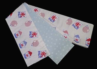 細帯半巾帯NO9これは面白い夏の風物詩のかき氷や豚の蚊取り線香入れ柄早い者勝ち
