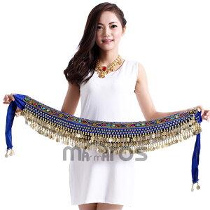 ベリーダンス 衣装 248コイン べロア ヒップスカーフ 12色 ym0002