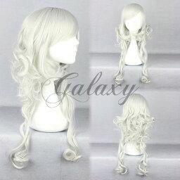 原宿ガール 可愛い ロリータ シルバー ロング 巻き髪 コスプレウィッグ wig-430a