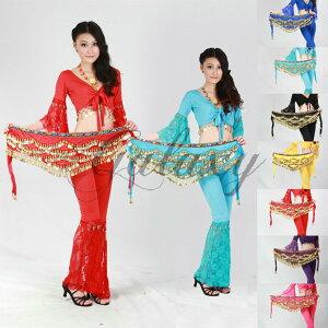ベリーダンス インドダンス 7色 300コイン ヒップスカーフ アクセサリー 優雅 ダンス衣装 ryj00717