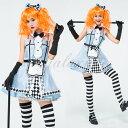 ハロウィン 不思議の国のアリス アリス 可愛い ブルー ワンピース 童話 仮装 変装 コスプレ衣装 ps3499 1