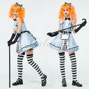 ハロウィン 不思議の国のアリス アリス 可愛い ブルー ワンピース 童話 仮装 変装 コスプレ衣装 ps3499 3