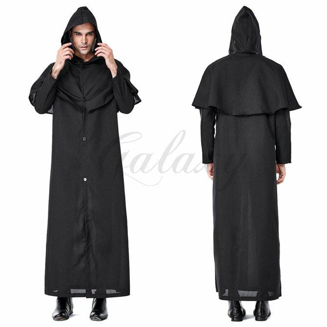 ハロウィン シャーマン 死神さん 殺し屋 祈祷師 ウィッチ 悪魔 男性用 メンズ M-XXLサイズ コスプレ衣装 ps3614画像