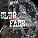 【ケース付♪送料無料】ブラックメタルバンド メンズウォッチ◇-clubface-メンズ 腕時計 CF-4710
