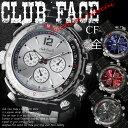 (ケース付♪送料無料) club faceメンズ メタル 腕時計 CF-1060