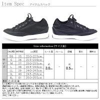 スニーカー送無2000円ズックローカットスリッポンレースアップミドルヒール3.0cm(4-1F)Q-4