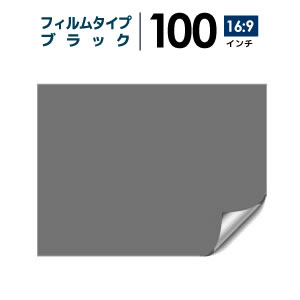 プロジェクタースクリーン 【3年保証/全国送料無料】 フィルムタイプ 100インチ(16:9) 背面投影フィルム ブラック シアターハウス bf-2214-1245