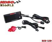 【正規品】KOSO LED油温計M14*1.5P赤FZR250/FZR250R/FZ400/FZR400RR/ジール/SRX400/SRX600/YZF-R6/YZF-R1/XJ6F/XJ6S/TDM850/TRX850/MT-09/FZ09