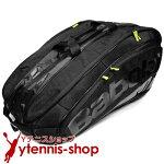 バボラ(BabolaT)2016年モデルチームエクスクルーシブテニスバッグ12本用TEAMEXCLUSIVEブラックバックパック機能あり国内未発売ラケットバッグ