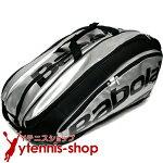 バボラ(BabolaT)2016年モデルチームエクスクルーシブテニスバッグ12本用TEAMEXCLUSIVEシルバーバックパック機能あり国内未発売ラケットバッグ