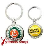 フレンチオープンテニスローランギャロスオフィシャル商品ボールロゴデザインキーリング全仏オープン