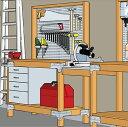 シンプソン 金具 Heavy duty DIYキット 自作 シェルフテーブル壁掛収納付デスク 金具・ねじセット[1セット]木材別売。SIMPSON Strong tie 2×4