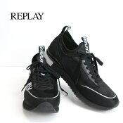 リプレイ/REPLAYスニーカー黒
