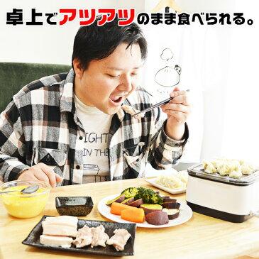 サンコー 卓上 ひとり フードスチーマー 一人用 電気 蒸し器 FODSTM01 一人暮らし にちょうど良い コンパクトサイズ