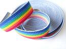 [50cm単位]虹色カラー織りゴム20mm幅(※1個のご注文で50cm)(他店舗同一在庫限り)【RCP】