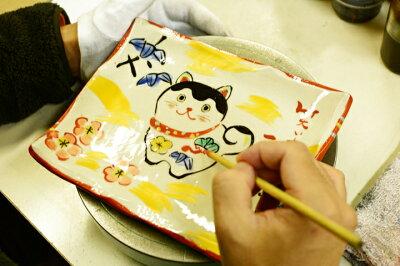 【名入れ可能】いいこといっぱい干支戌飾皿(皿立て付き)夕立窯美濃焼和食器おしゃれ干支グッズギフトプレゼント送料無料