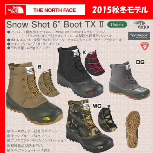 THENORTHFACESNOWSHOT6BootsTX2【ザノースフェイス】/NF51564【TNF_2015FW】