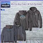 Patagoniaパタゴニアパーカー男性用フィッツロイクレストライトウエイトフルジップフォーディM'sFitzRoyCrestLWFull-ZipHoody