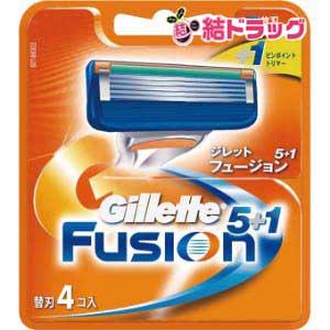 ジレット フュージョン5+1 替刃4B(4コ入)