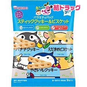 赤ちゃんのおやつ+Ca カルシウム バラエティパック スティッククッキー&ビスケット(71g(2本*6包、1本*3包))